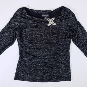 Frank Lyman 3/4-Sleeve Fancy & Cozy Shimmery Top